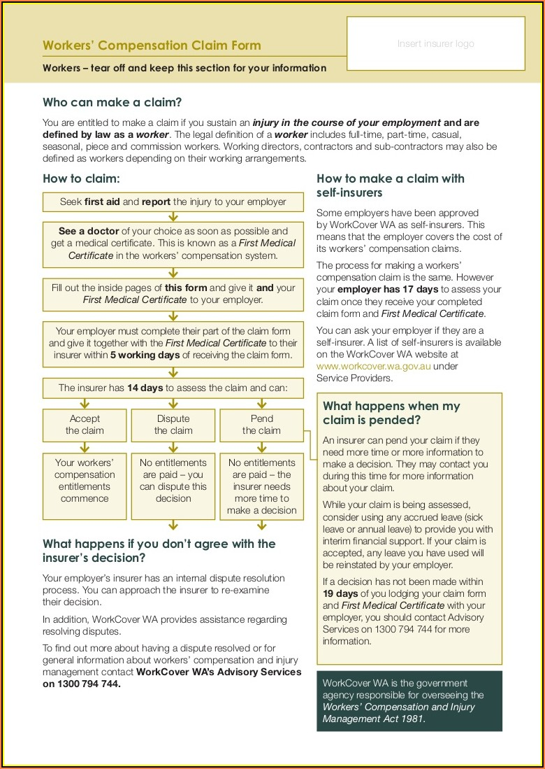 How To Fill Out Workers Compensation Claim Form