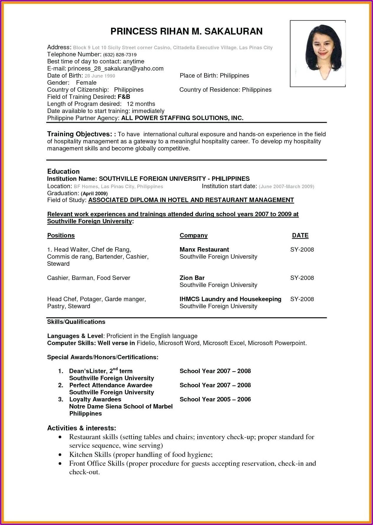 How To Make A Good Nursing Resume