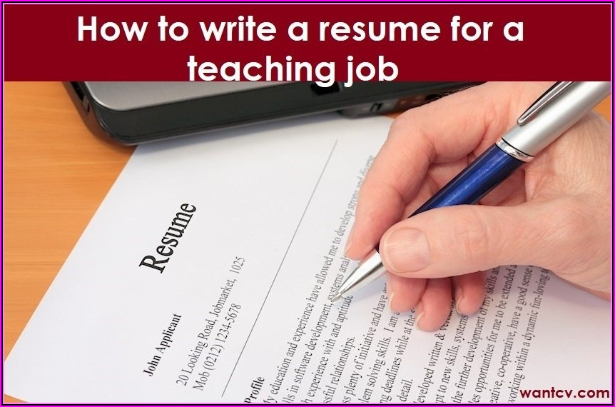 How To Write A Resume For Teaching Job