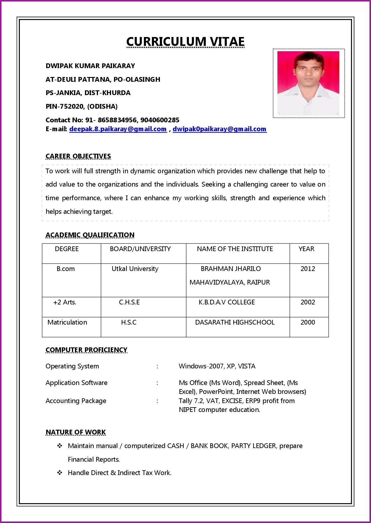 How To Write Job Resume