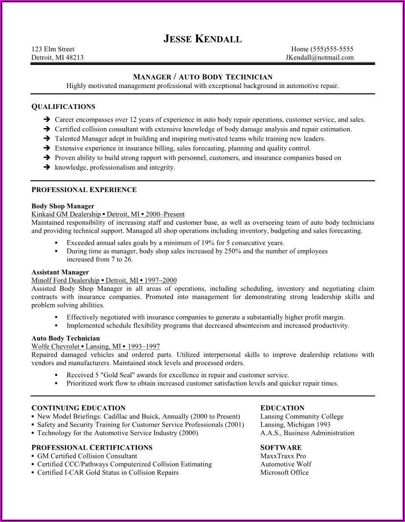 Hvac Installer Resume Template