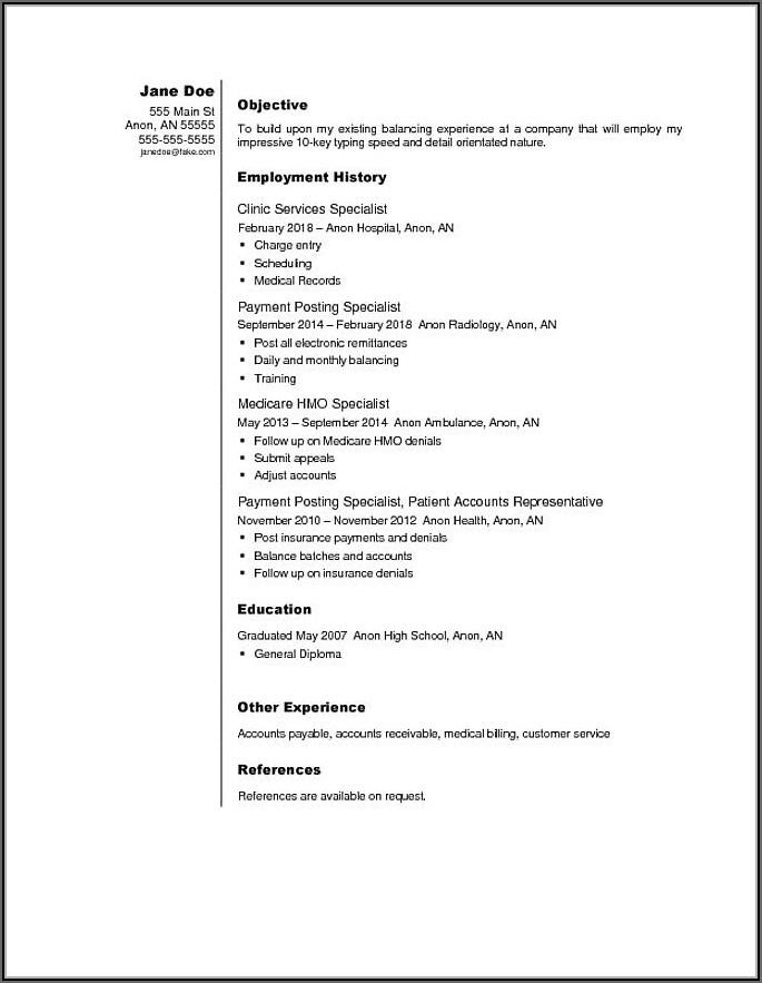 I Need Help Making My Resume
