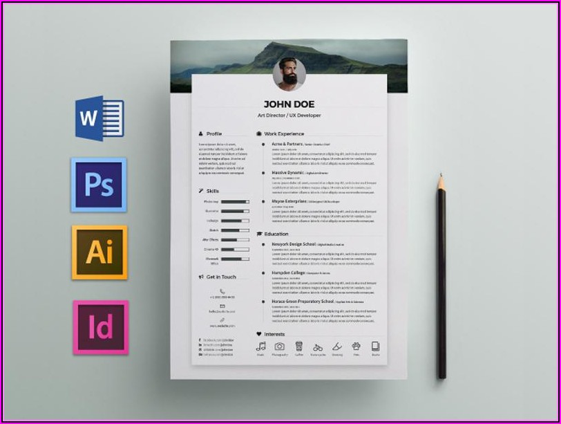 Indesign Cv Resume Template Free