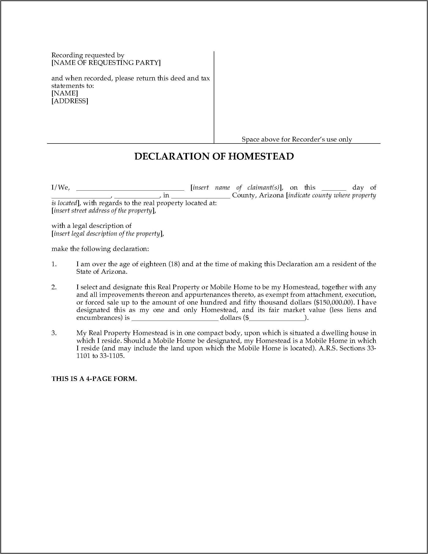 Inheritance Tax Waiver Form Az