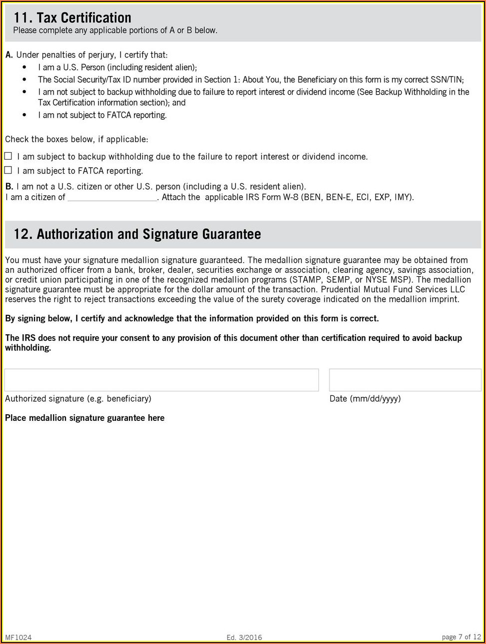 Inheritance Tax Waiver Form