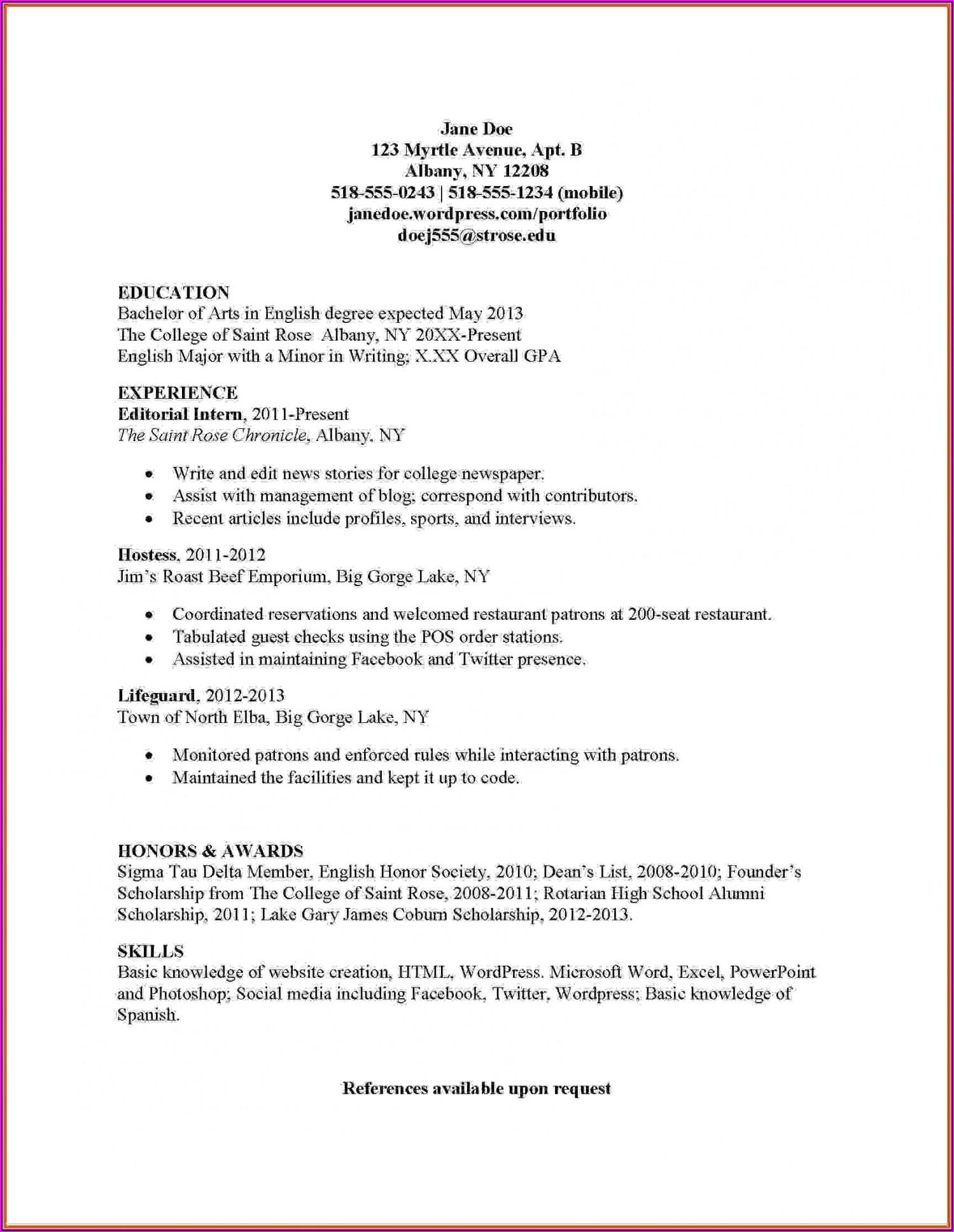 Internship Resume Builder