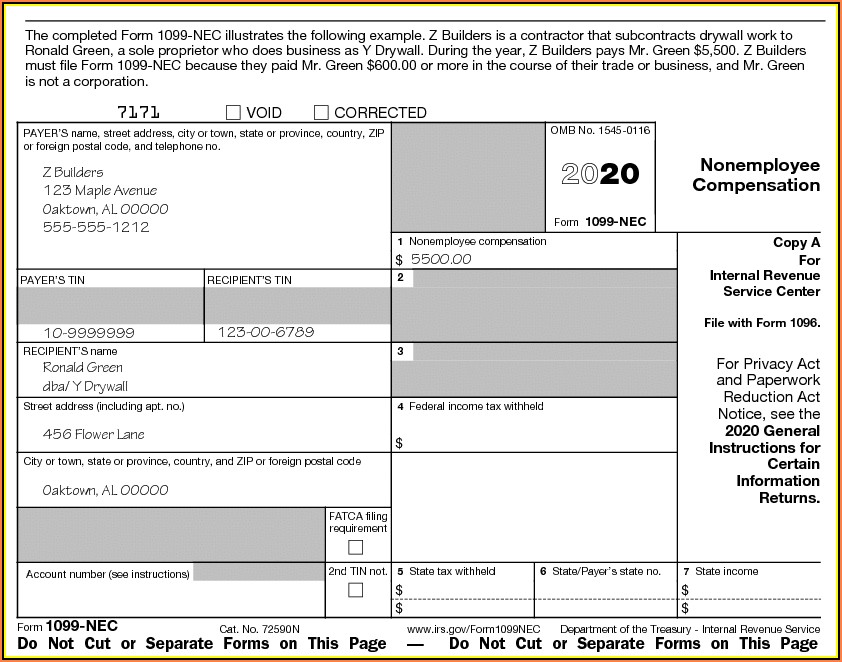 Irs Form 1099 Misc Instructions 2019
