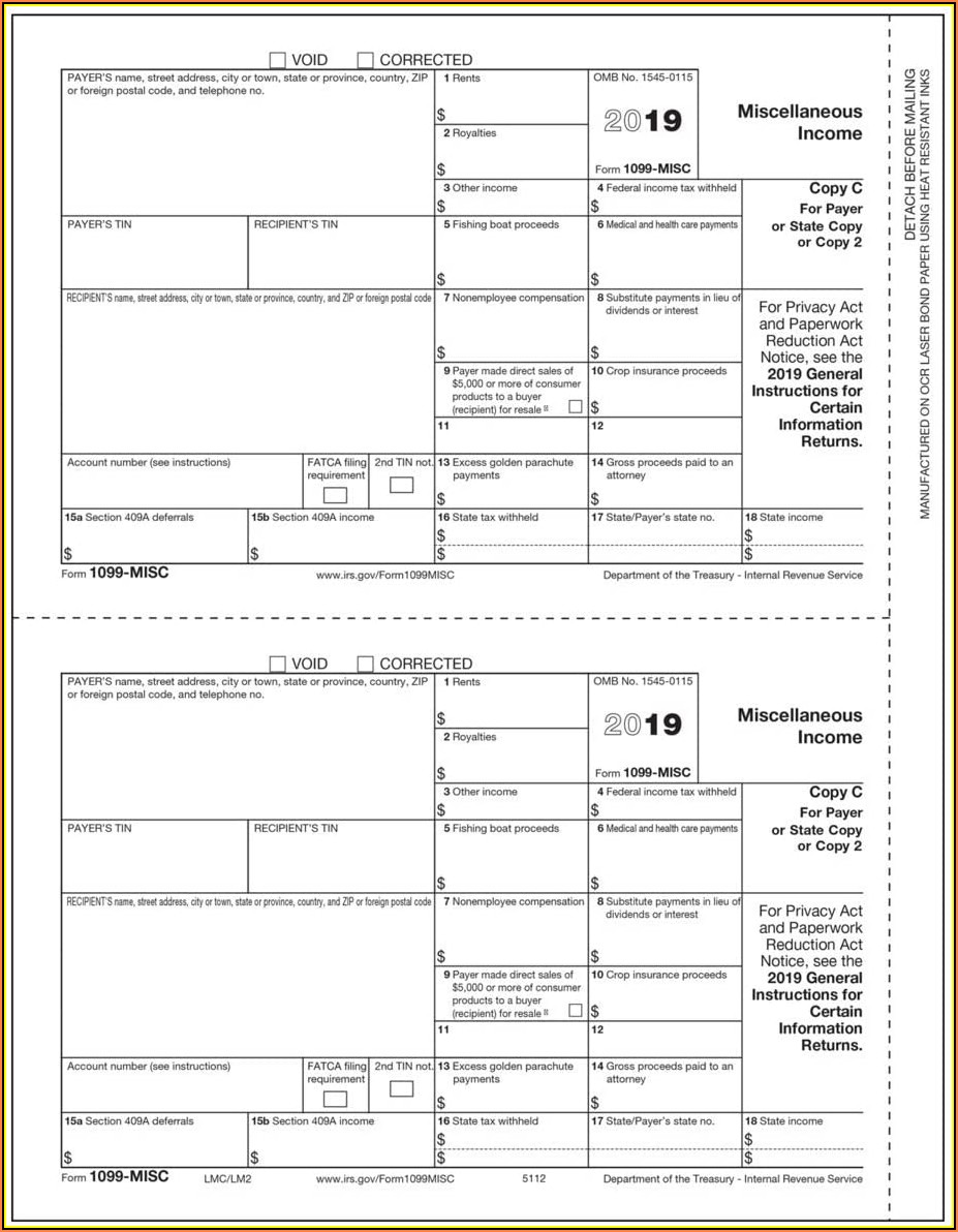 Irs Forms 1099 Misc 2019