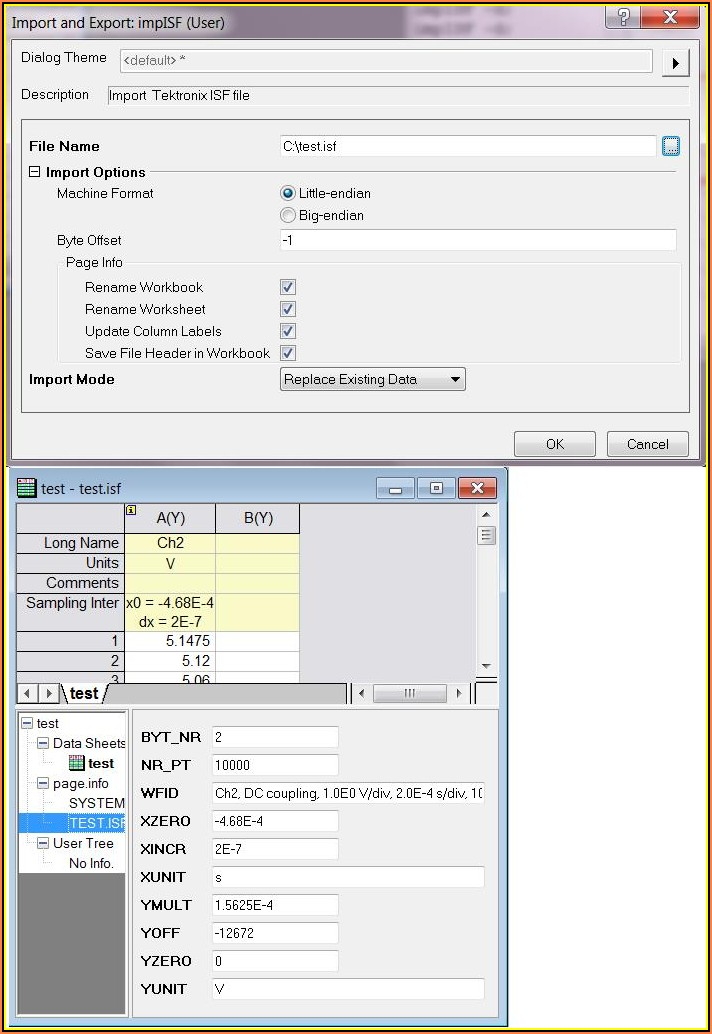 Isf File Format Tektronix