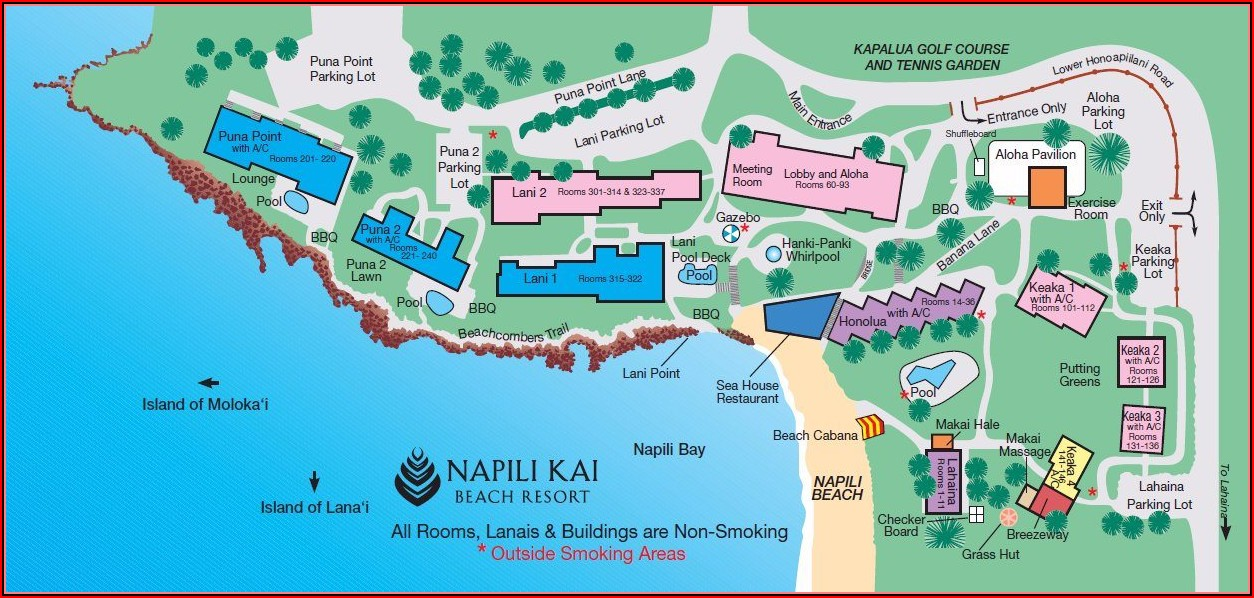 Kaanapali Beach Club Layout