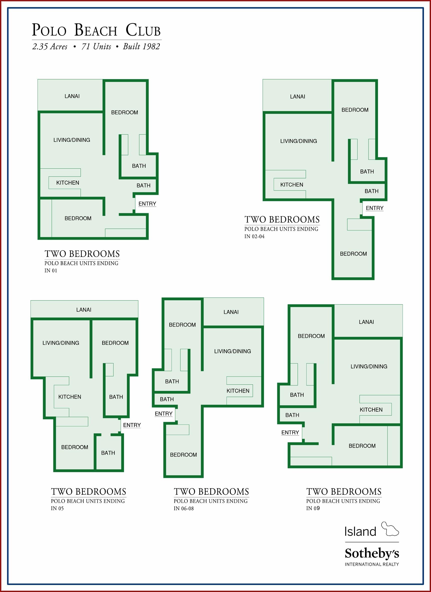 Kaanapali Beach Club Room Map