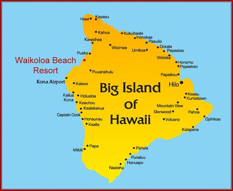 Kohala Coast Hotels Map