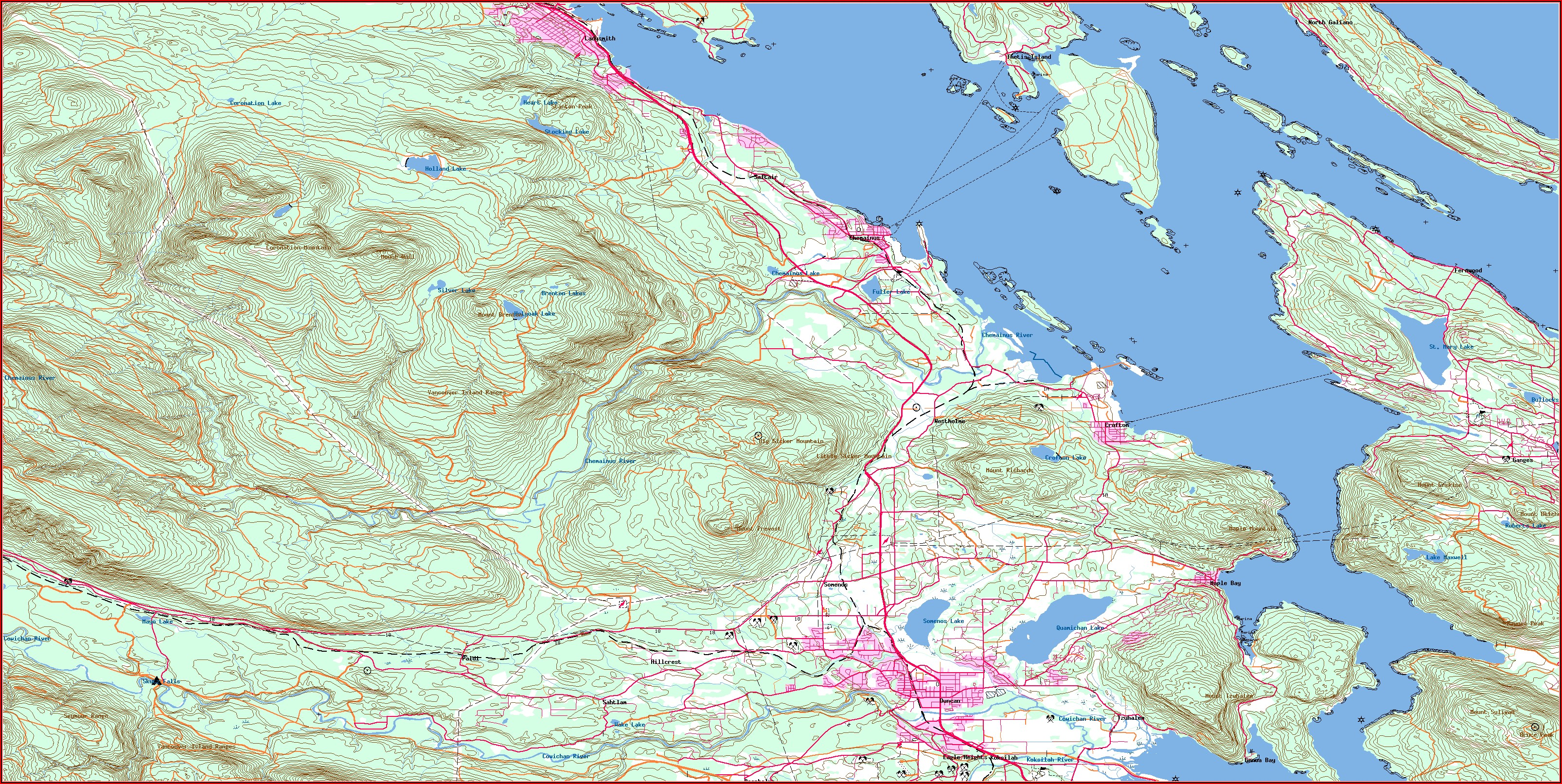 Lake Sharpe Contour Map