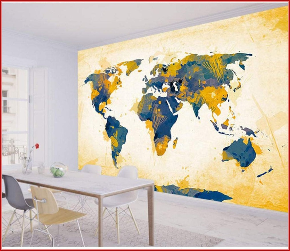 Large Map Wallpaper Mural