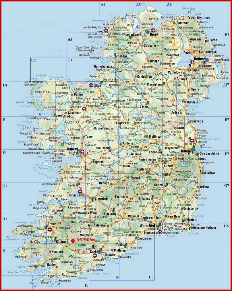 Large Travel Map Of Ireland
