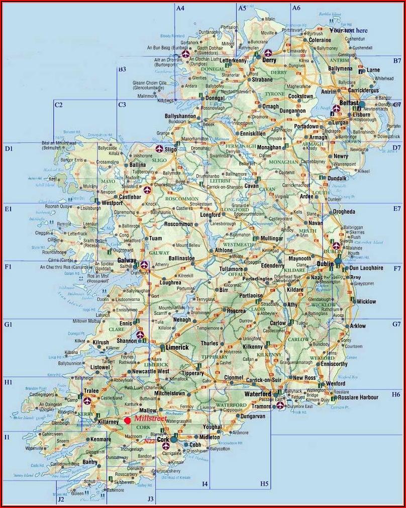Large Travel Map Of Ireland
