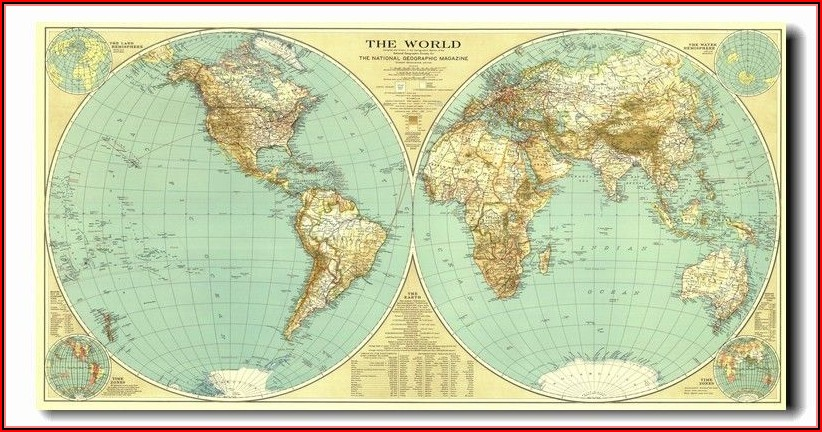 Large World Map Poster National Geographic
