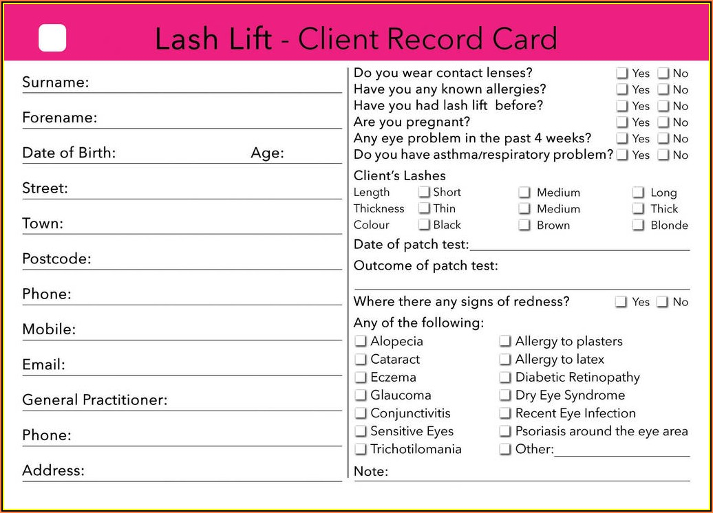 Laser Hair Removal Treatment Consent Form