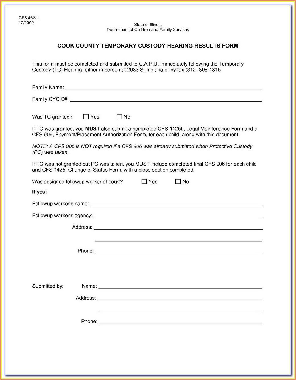 Legal Guardianship Forms Indiana