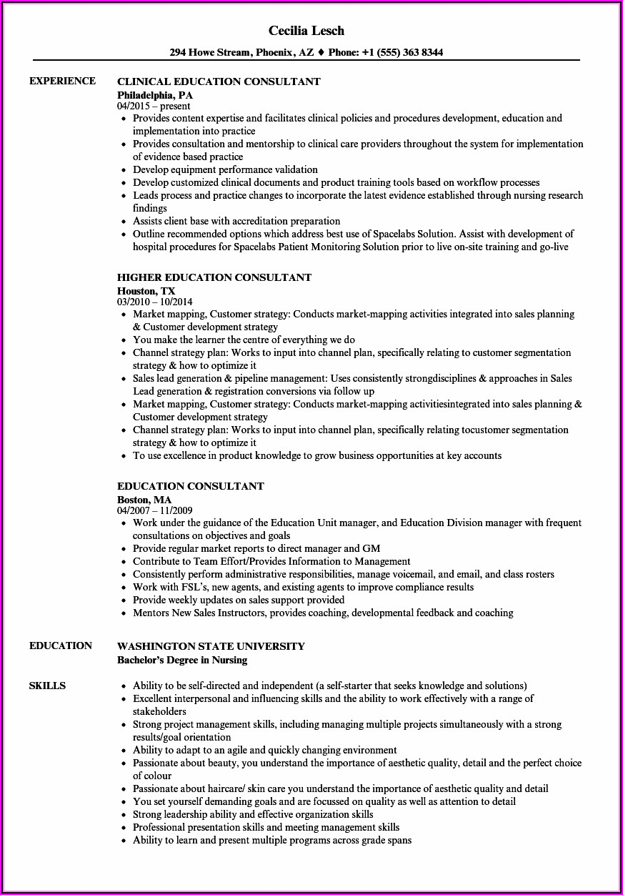 Legal Nurse Consultant Resume No Experience