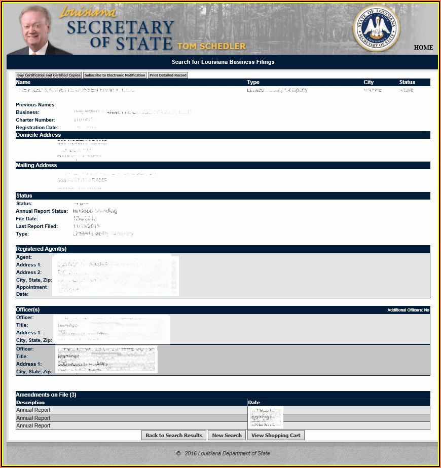 Louisiana Secretary Of State Corporations Forms