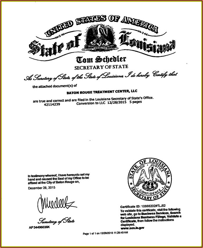 Louisiana Secretary Of State Notary Forms