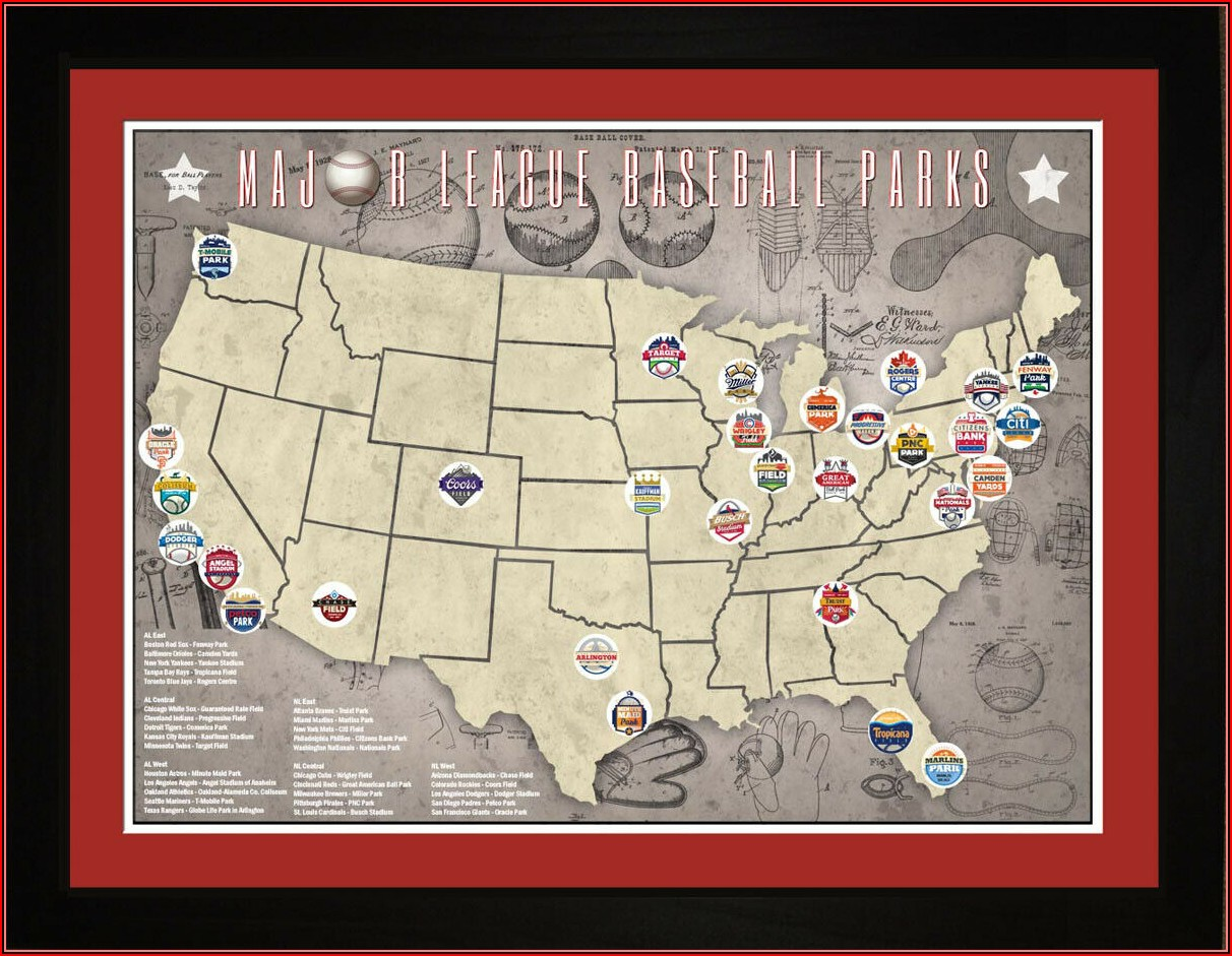 Major League Baseball Parks Map