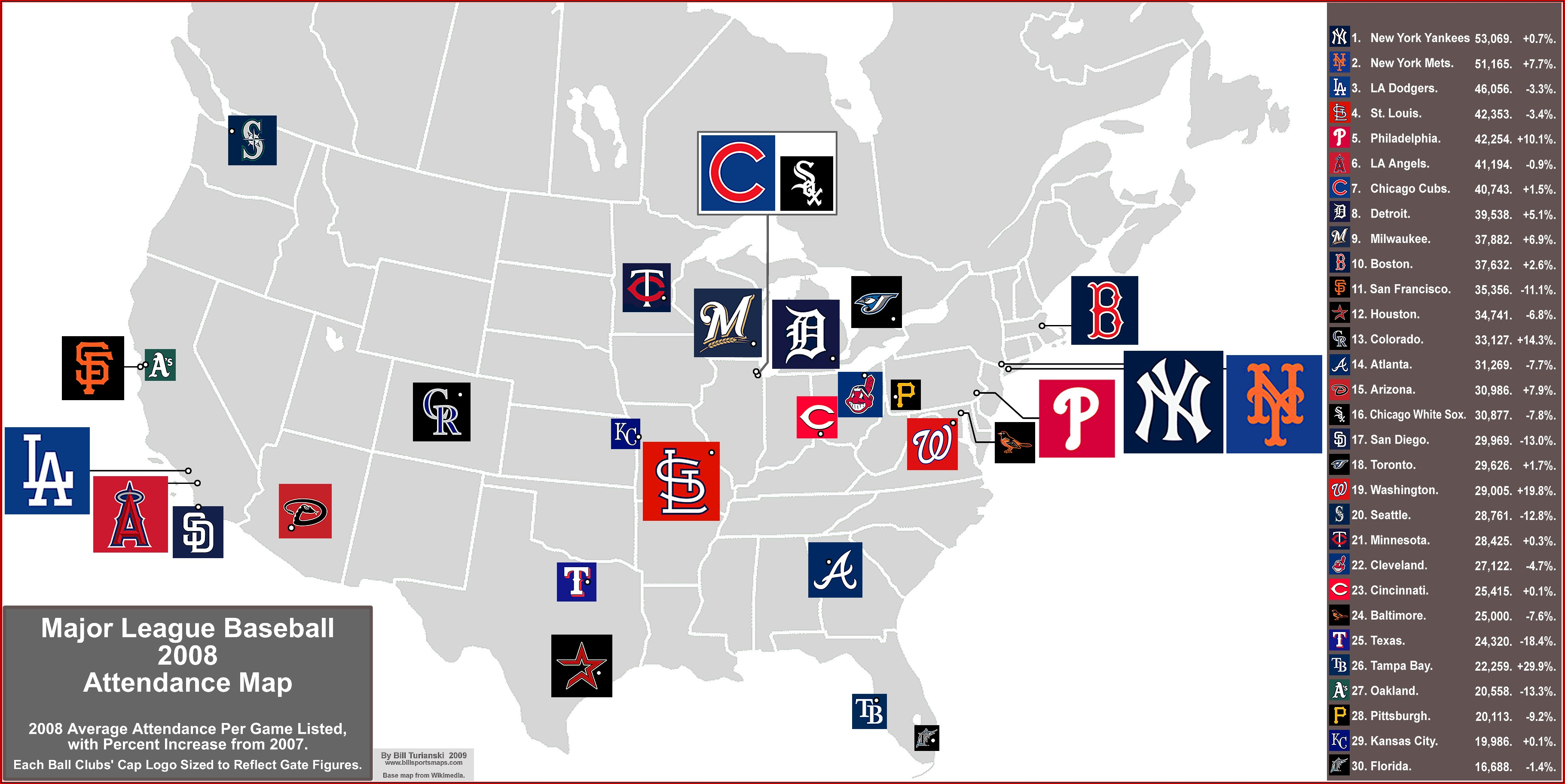 Major League Baseball Teams Us Map