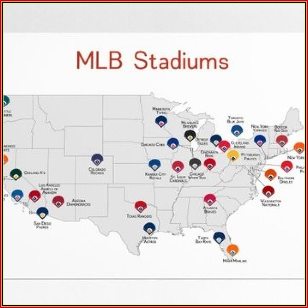 Major League Stadiums Map