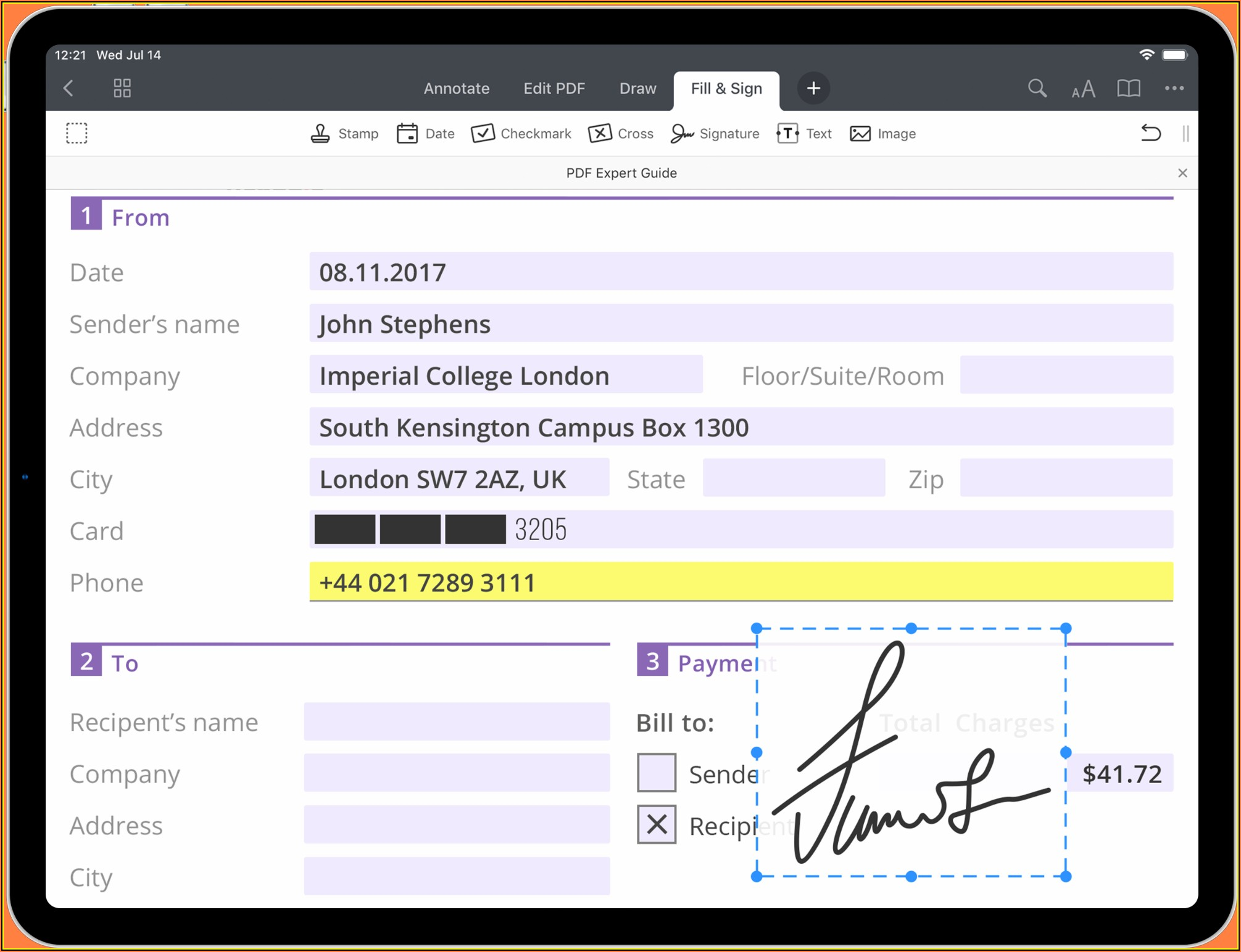 Make A Fillable Form On Ipad