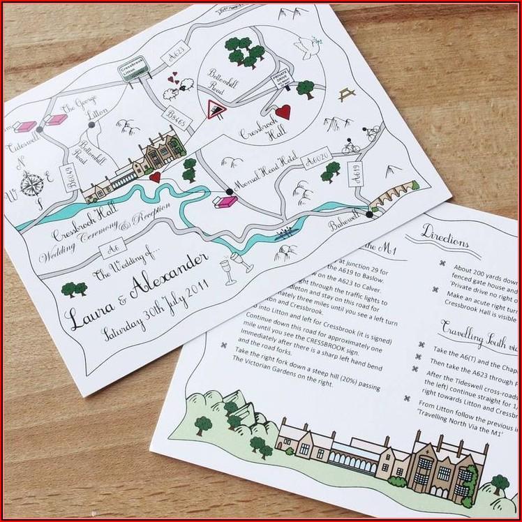 Make Map For Wedding Invitation