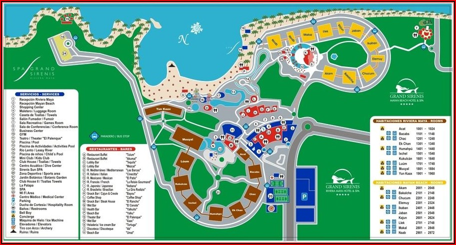 Map All Inclusive Resorts In Riviera Maya Mexico