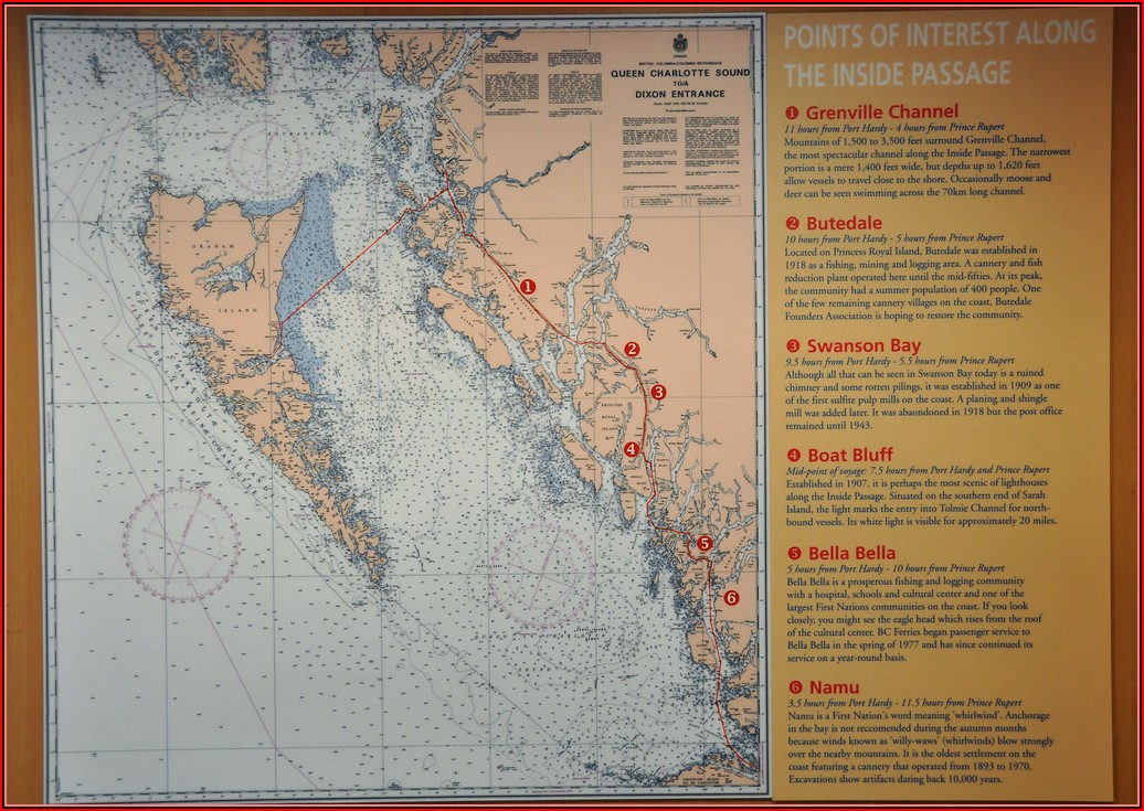 Map Inside Passage Bc