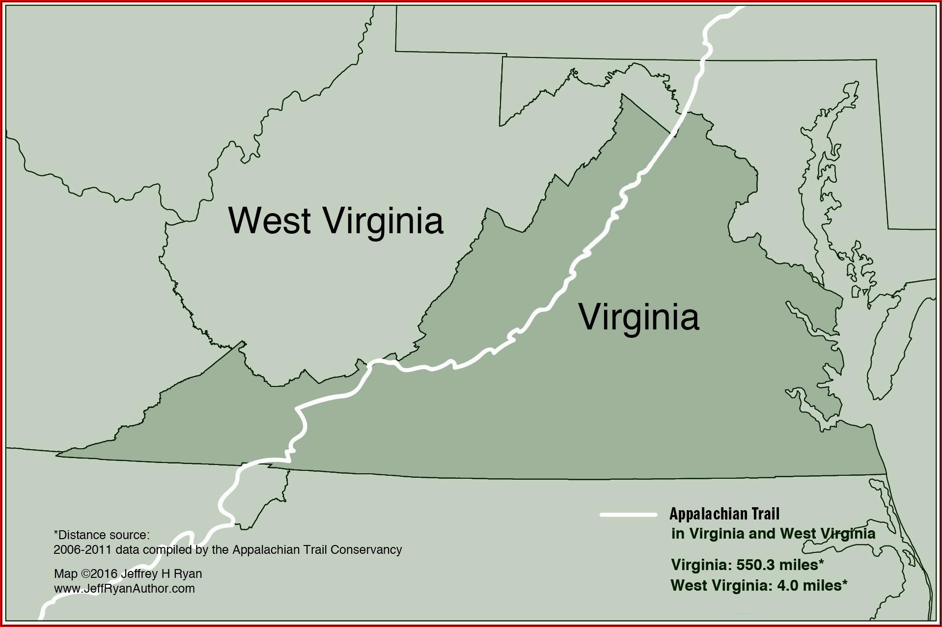 Map Of Appalachian Trail In Virginia
