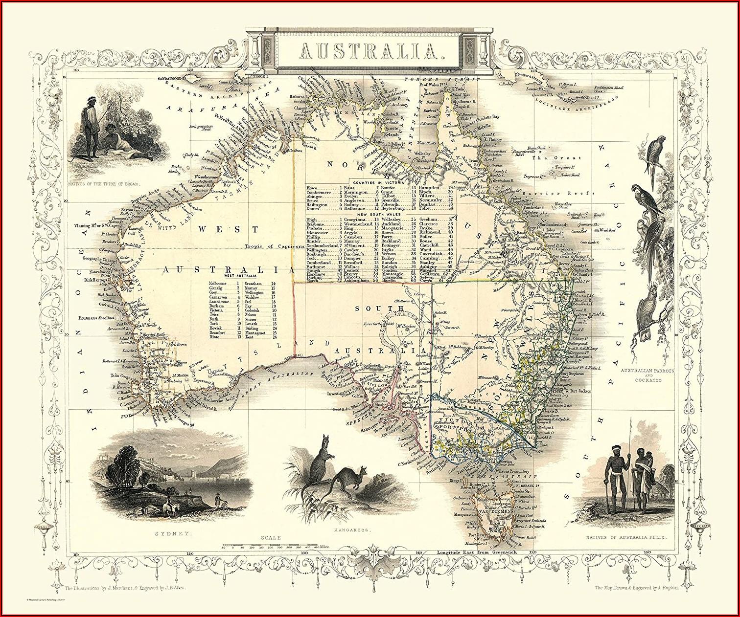 Map Of Australia Jigsaw Puzzle