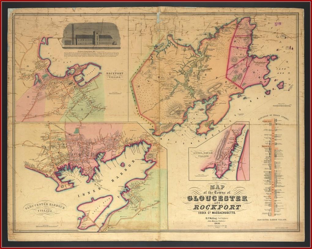Map Of Cape Ann Ma