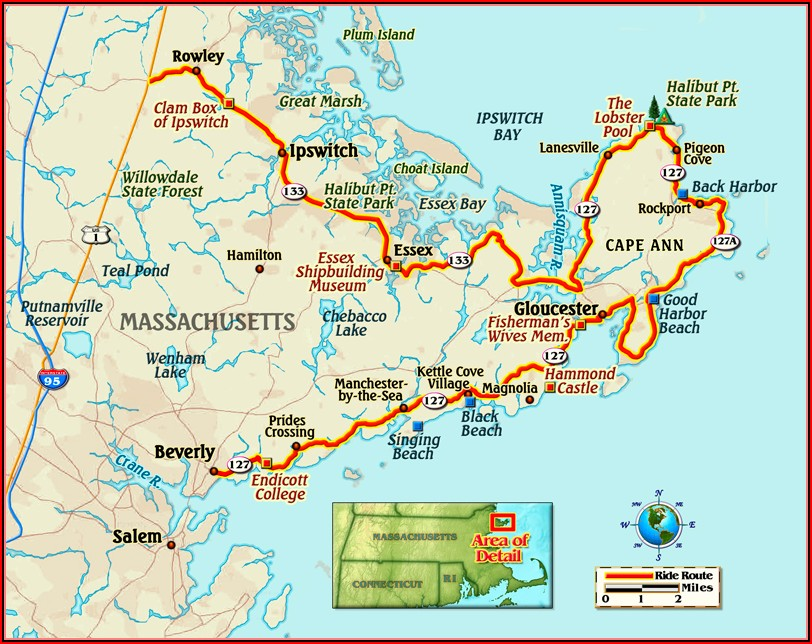 Map Of Cape Ann Mass