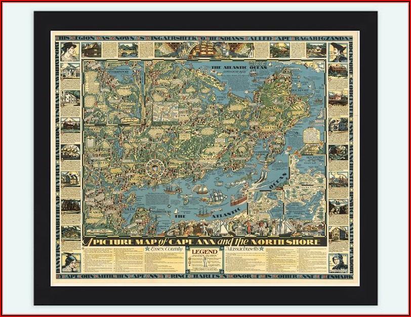 Map Of Cape Ann
