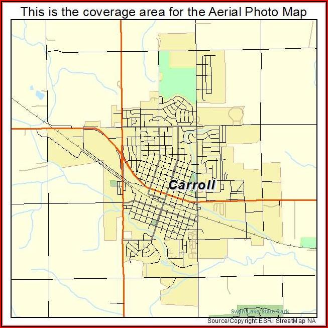 Map Of Carroll Iowa Streets
