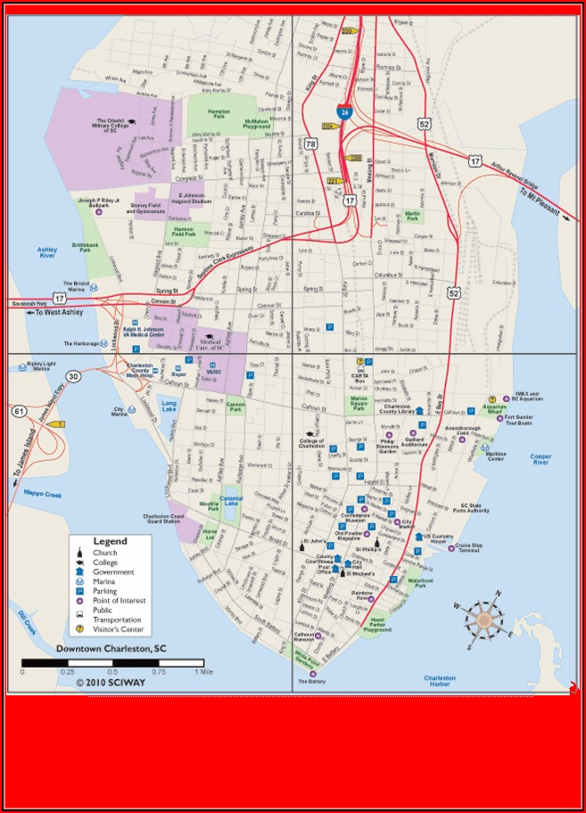 Map Of Charleston Sc Hotels