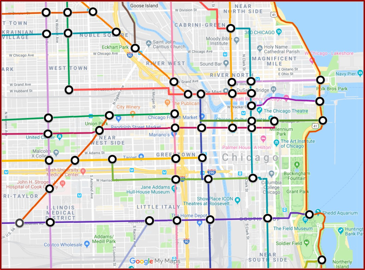 Map Of Chicago Mass Transit