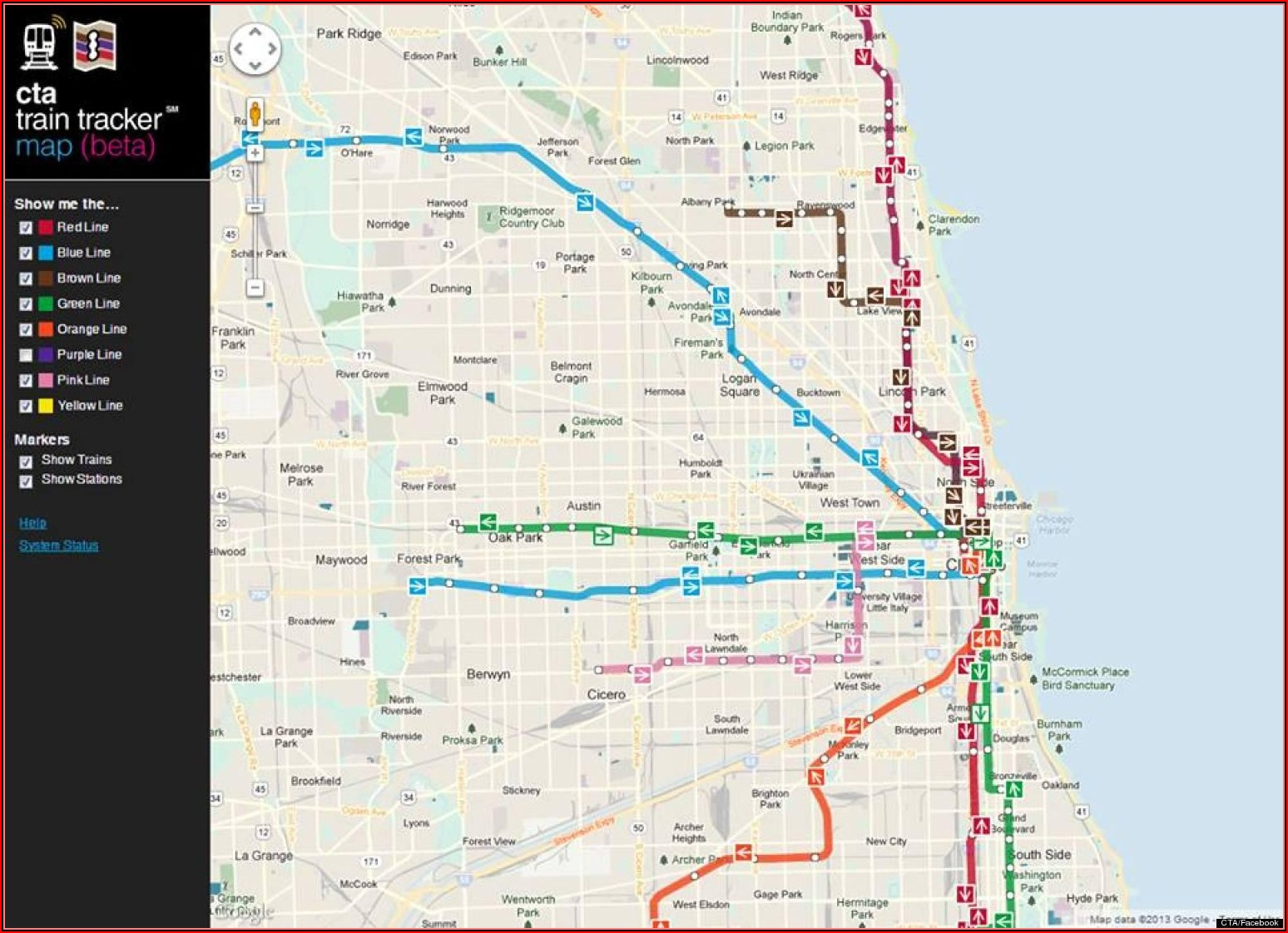 Map Of Chicago Public Transit