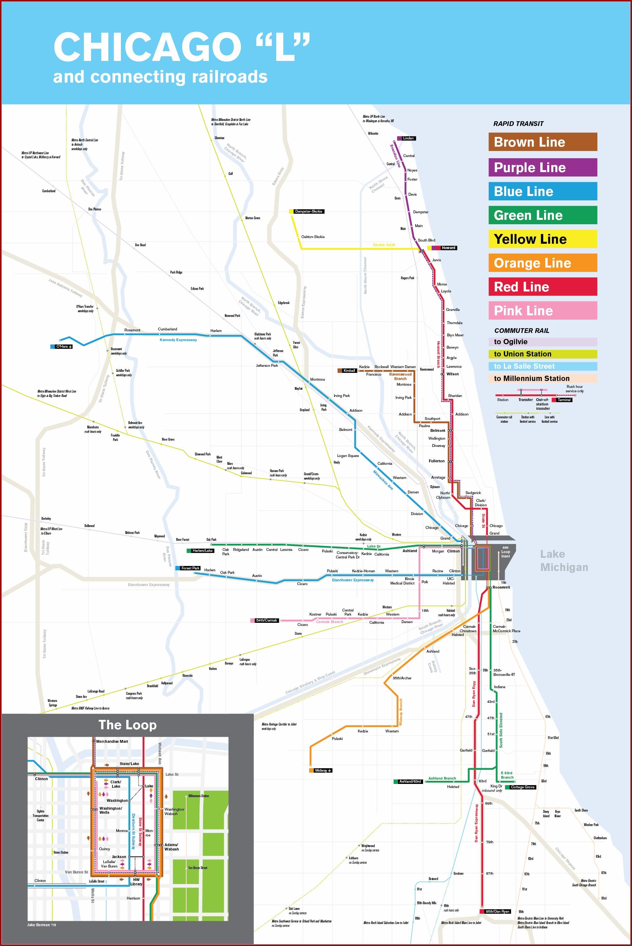 Map Of Chicago Rapid Transit