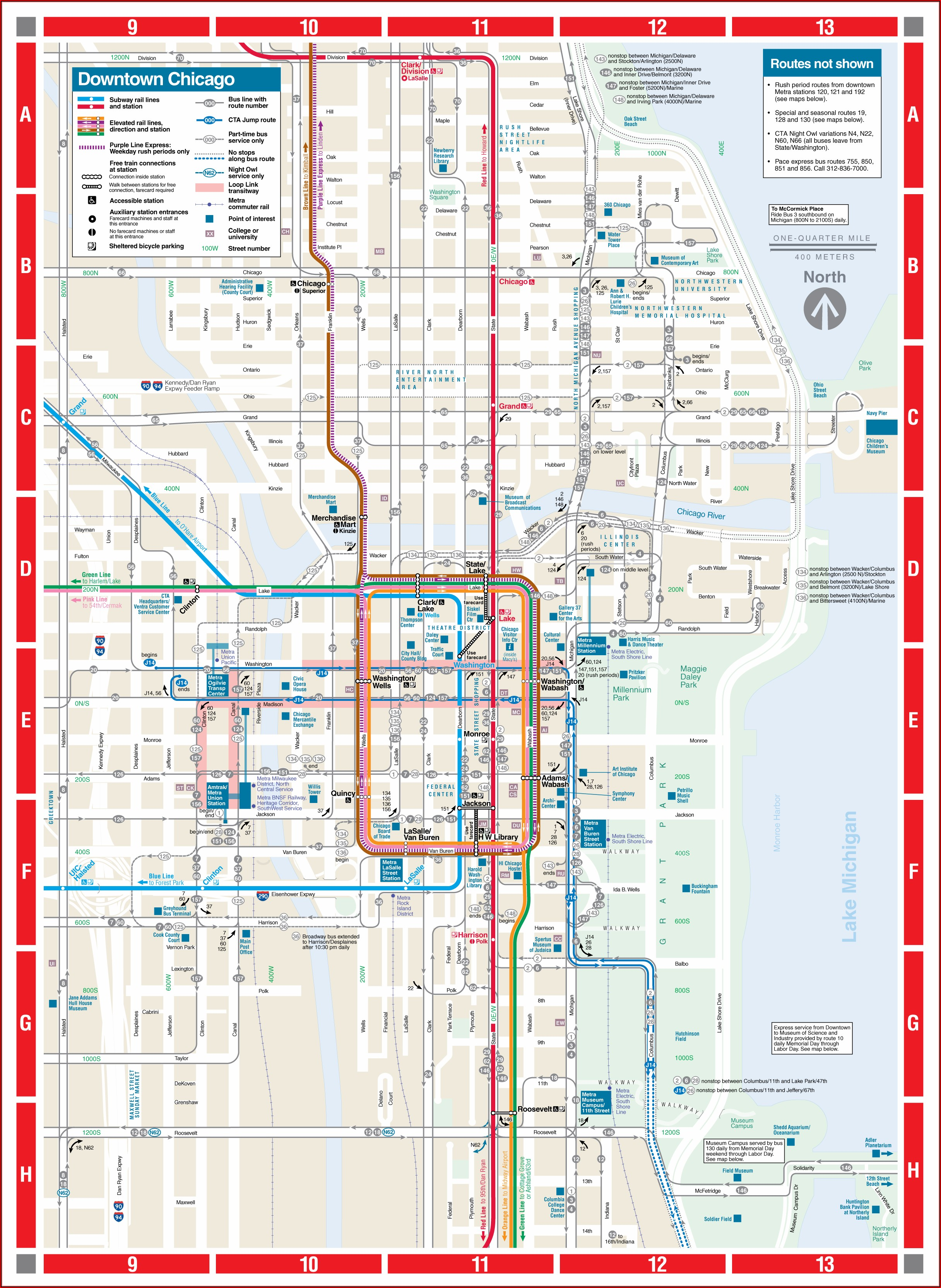 Map Of Chicago Transit Blue Line