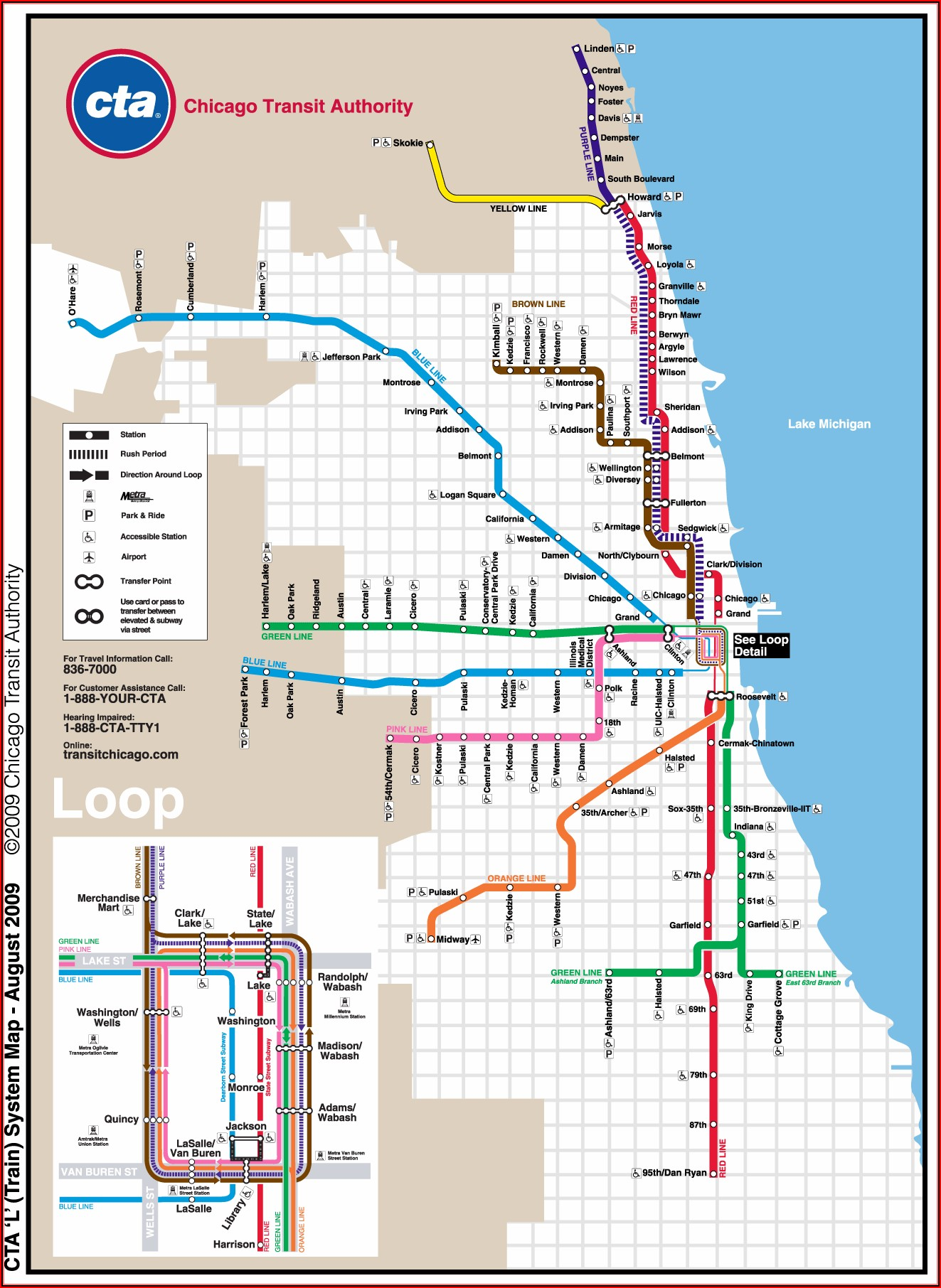 Map Of Chicago Transit Red Line