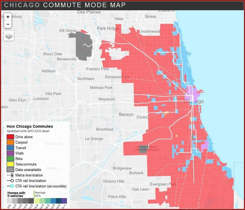 Map Of Chicago Transit