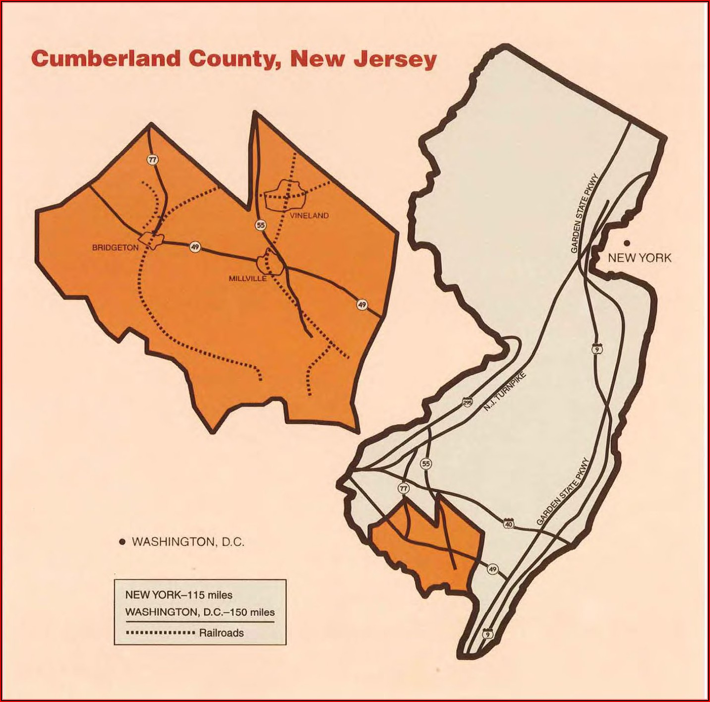 Map Of Cumberland County Nj Municipalities