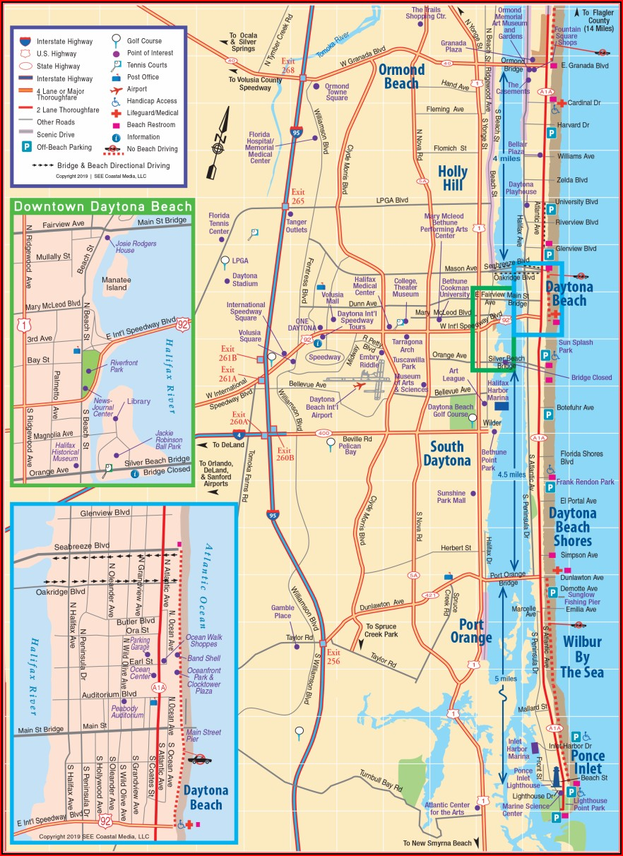 Map Of Daytona Beach Hotels