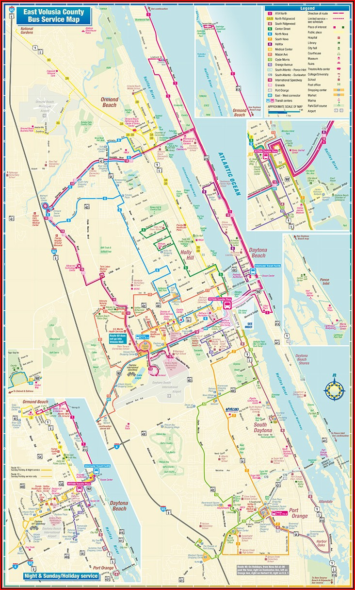 Map Of Daytona Beach Shores Hotels