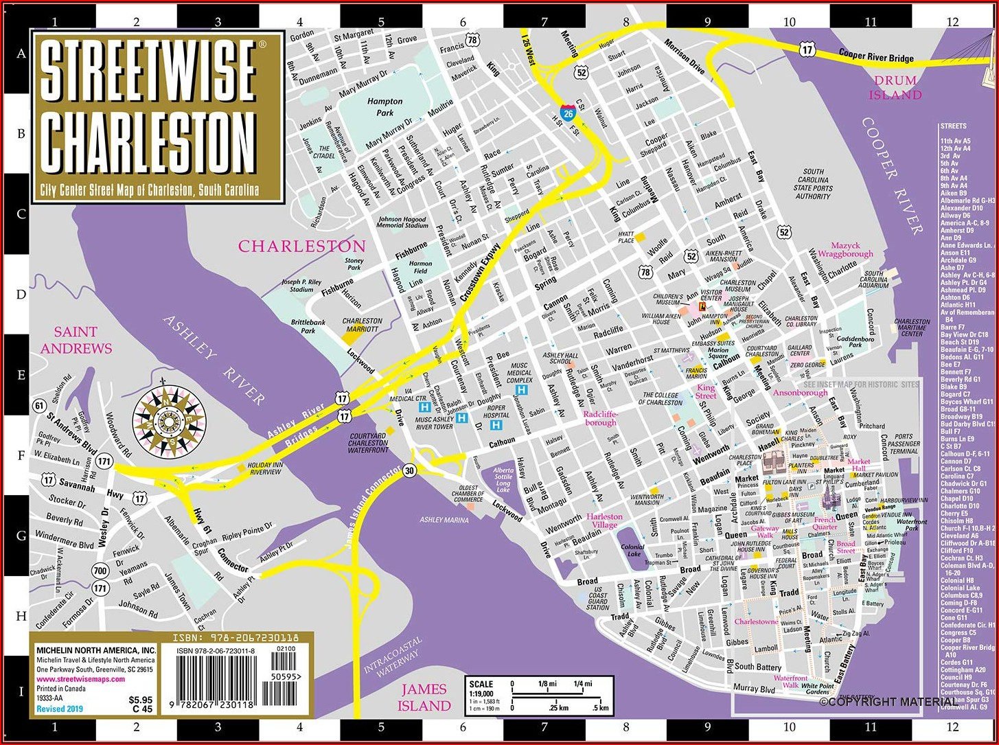 Map Of Downtown Charleston Sc Hotels